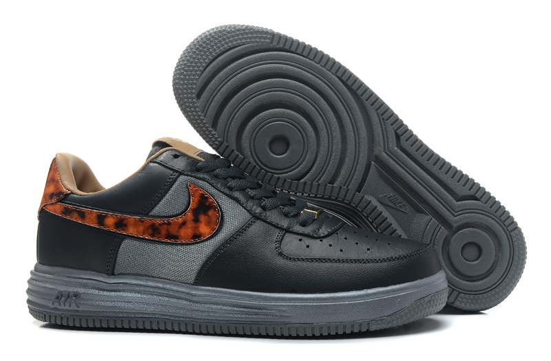 Nike Air Force 1 Low Black Grey Brown Sneaker